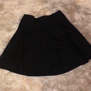 Black chevron Skater skirt
